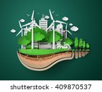 concept of eco friendly and... | Shutterstock .eps vector #409870537