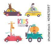 kids transport collection with... | Shutterstock .eps vector #409870597