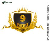 9th years anniversary  ... | Shutterstock .eps vector #409878097