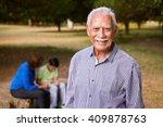 grandparents educating grandson ... | Shutterstock . vector #409878763