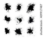 splatters set  vector... | Shutterstock .eps vector #409917487