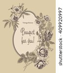 vintage vector card with... | Shutterstock .eps vector #409920997