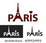 paris. black and white... | Shutterstock .eps vector #409924993