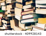 used books at the bookshop   Shutterstock . vector #409928143