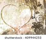 floral grunge vector background ... | Shutterstock .eps vector #409944253