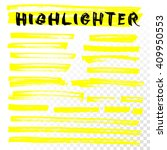 vector highlighter brush lines. ... | Shutterstock .eps vector #409950553