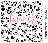 summer creative card or poster...   Shutterstock .eps vector #409957777