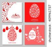 illustrations of easter card set | Shutterstock . vector #409961737