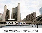 Stock photo nathan phillips square toronto canada 409967473