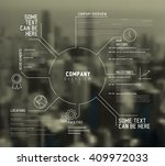 vector company infographic... | Shutterstock .eps vector #409972033