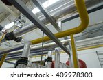 new pipeline on ceiling in... | Shutterstock . vector #409978303