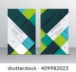vector brochure template design ... | Shutterstock .eps vector #409982023