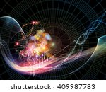 coordinates of science series....   Shutterstock . vector #409987783