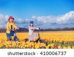 smiling mother and daughter...   Shutterstock . vector #410006737