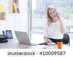 beautiful young business woman... | Shutterstock . vector #410009587