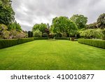 beautiful english style garden... | Shutterstock . vector #410010877
