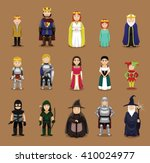 medieval characters set cartoon ...