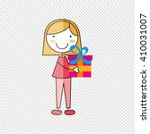 happy children on  party design    Shutterstock .eps vector #410031007