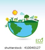 ecology concept with green eco...   Shutterstock .eps vector #410040127