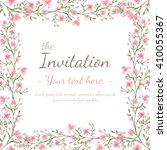 flower wedding invitation card  ... | Shutterstock . vector #410055367