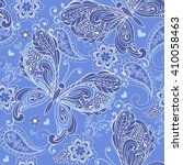 cute seamless pattern with... | Shutterstock .eps vector #410058463