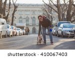 walking through the city with... | Shutterstock . vector #410067403