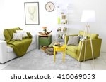 interior of living room with... | Shutterstock . vector #410069053