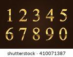 vector golden numbers. set of... | Shutterstock .eps vector #410071387