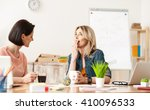 cheerful two ladies are...   Shutterstock . vector #410096533