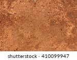 Dry Red  Orange Soil And Small...