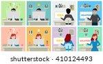 idea and solution development... | Shutterstock .eps vector #410124493