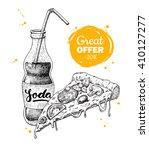 vector vintage fast food... | Shutterstock .eps vector #410127277