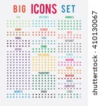 big set of sorted themes icons  ... | Shutterstock .eps vector #410130067