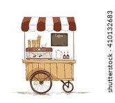 coffee house on wheels.  vector ... | Shutterstock .eps vector #410132683