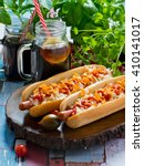 Hot Dogs With Sour Cabbage...