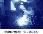 welder working at the factory | Shutterstock . vector #410150527
