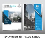 Blue annual report brochure flyer design template vector, Leaflet cover presentation abstract flat background, layout in A4 size | Shutterstock vector #410152807