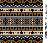 seamless pattern with tribal... | Shutterstock .eps vector #410160853