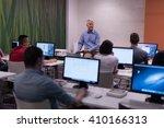 handsome mature teacher and...   Shutterstock . vector #410166313