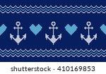 sea ornament. border. seamless... | Shutterstock .eps vector #410169853