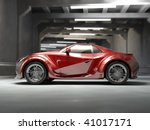 red concept car. my own car... | Shutterstock . vector #41017171