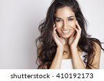 portrait of beautiful smiling... | Shutterstock . vector #410192173