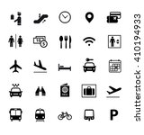 set of airport icon. vector... | Shutterstock .eps vector #410194933