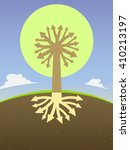 abstract tree diagram with the... | Shutterstock . vector #410213197