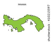 panama map | Shutterstock . vector #410215597