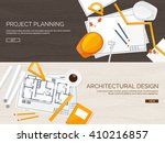 engineering and architecture... | Shutterstock .eps vector #410216857