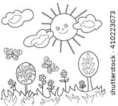 coloring  book.  hand drawn.... | Shutterstock .eps vector #410223073