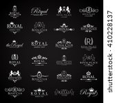 royal icons set isolated on... | Shutterstock .eps vector #410228137