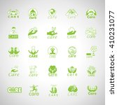 care icons set isolated on gray ... | Shutterstock .eps vector #410231077