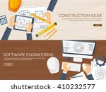 engineering and architecture... | Shutterstock .eps vector #410232577